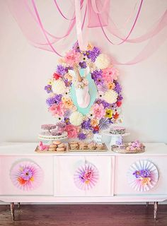 unicorn party sweet table