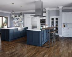 Classic Blue Kitchen [4000 x 3200] [CGI Render] : RoomPorn