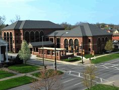 The 33,220 square-foot Marshall University Foundation Hall, Home of the Erickson Alumni Center, is located at 519 John Marshall Dr. The building opened in February 2010.    The Erickson Alumni Center is on the first floor, with development and foundation offices on the second and third floors.