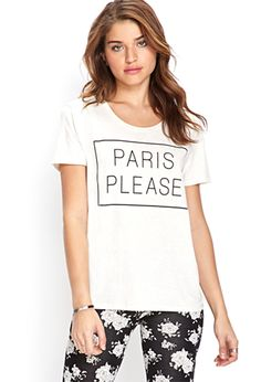 Summer Trend: Wordy Graphics -  Paris Please Tee | FOREVER21