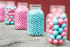 Bubblegum Baby Gender Reveal. Have guests take a couple from their choice.