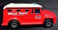 Matchbox Wells Fargo Armored Truck 1978 No. 69, Vintage Diecast Toy Car #Matchbox