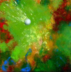 ORIGINAL Art Golf Painting on Canvas Modern Acrylic by JJArtStudio! #golf #lorisgolfshoppe