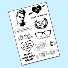 This is our most popular Temporary Tattoo pack! Only a few left on http://ift.tt/1ZEO2su #Morrissey #TheSmiths #Mozza