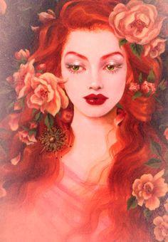 art painting fantasy maxine gadd flowers beautiful