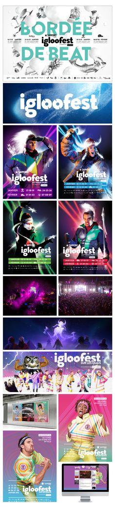 Igloofest 2014 by Jean-Christophe Lanteigne Daigle, via Behance