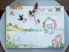 So cute! This girl's flickr is full of so many great sketchbook pages.