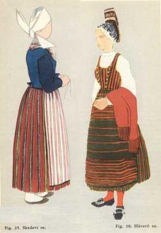 Skedevi (Ostergotland)+Häverö (Uppland) Swedish Fashion, Folklore, Sweden, Scandinavian, Disney Characters, Fictional Characters, Costumes, Disney Princess, Ancestry
