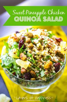 Sweet Pineapple Chicken Quinoa Salad | Medi Sumo
