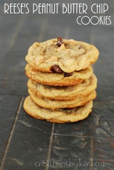 Recipe for Reese's Peanut Butter Chip Cookies- with peanut butter chips and chocolate chips. YUM!