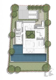 I love the floor plan of this home, in that the centre is an open gardened area that also allows lots of natural light to flood into the adjacent rooms
