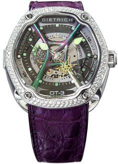 Dietrich Watch OT-3 White Diamonds Pre-Order #add-content #basel-17 #bezel-diamond #bracelet-strap-alligator #brand-dietrich #case-depth-13-7mm #case-material-steel #case-width-46mm #delivery-timescale-call-us #dial-colour-silver #gender-mens #luxury #mov