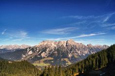 view to the Leoganger Steinberge in Austria Visit Austria, Central Europe, Alps, Lodges, Beautiful World, Germany, Vacation, Mountains, Country