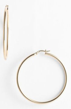 Roberto Coin 45mm Gold Hoop Earrings available at #Nordstrom- Classic