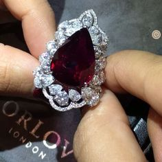 Entering the enchanting world of @orlovjewelry a hidden gem in #MonteCarlo with the finest and rarest gemstones and the radiance of this rare Burmese Pigeon Blood Ruby totally captivated my heart! #RadiantRuby #Ruby #TheOrlovExperience #OrlovJewelry #OrlovLondon #Monaco #ChampagneGemDiaries #ChampagneGemGoesToMonaco #YourDailyDoseOfSparkle #ChampagneGem #ChampagneGem200kSpecialEdition