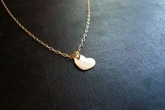 Gold Heart Necklace in Gold Filled  Sweet Gift by roundabout, $27.00