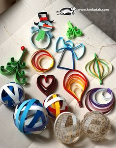 9 paper christmas ornaments These 20 Easy Paper Ornaments for Christmas make decorating inexpensive, creative, and fun! Paper Christmas Ornaments, Christmas Origami, Christmas Toys, Christmas Activities, Christmas Crafts For Kids, Christmas Projects, Holiday Crafts, Christmas Decorations, Theme Noel