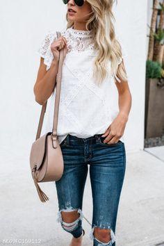 40 Stunning Outfits To Try This Spring - estilo casual - estilo urbano - estilo clasico - estilo natural - estilo boho - moda estilo - estilo femenino Look Fashion, Fashion Outfits, Fashion Trends, Womens Fashion, Latest Fashion, Pattern Cute, Diy Mode, Looks Cool, High Collar