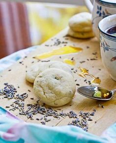 Lavender Mint Tea Cookie Recipe from Cheers to Vegan Baking by  Kelly Peloza (my new favorites!)