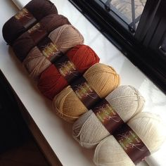All Stylecraft Special DK browns together. Would be great to use all of these colors together in a blanket.