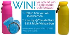 win two bubi bottles by tweeting your green living tips to @climatestore using #kickcarbon!