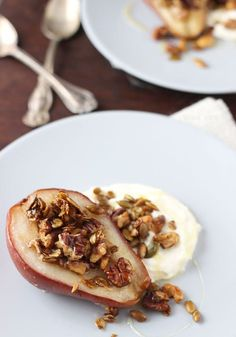 Tender, juicy roasted pears are topped with a sweet and crunchy nut-oat crumble and a dollop of mascarpone cheese in this easy, delicious fall dessert. Hey hey!! Today is thefirst official day of Fall!!! Yes, I know it has felt like fall for most of us for a few weeks now but I am so …
