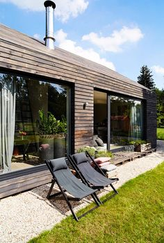 My future house! Tiny House Cabin, My House, Future House, Renovation Facade, Small Villa, Contemporary Cabin, Weekend House, Minimal Home, Village Houses