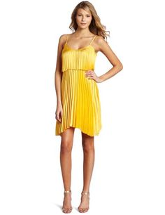 Pleated Hi-Low Dress by Shelli Segal