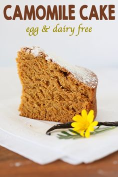 Camomile cake with vanilla beans: a not too sweet treat to naturally relax your kids (and yourself!!) No eggs, no dairy, no butter :-)