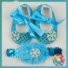 $4.73 (Buy here: https://alitems.com/g/1e8d114494ebda23ff8b16525dc3e8/?i=5&ulp=https%3A%2F%2Fwww.aliexpress.com%2Fitem%2FSnowflake-Elas-Baby-Girl-Shoes-Headband-3Pcs-Set-Elsa-Blue-Sequin-Bowtie-Shoe-Infant-Girls-Princess%2F32653491574.html ) Snowflake Elsa Baby Girl Shoes + Headband 3Pcs Set Elsa Snow Blue Sequin Bowtie Shoe Infant Girls Princess Toddler Shoes 0-18M for just $4.73