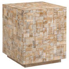 Atelier - Coastal retreat - Reclaimed teak mosaic side table/SIDE TABLES/COFFEE TABLES & SIDE TABLES/SHOP BY PRODUCT/ATELIER BOUCLAIR|Bouclair.com