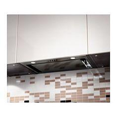 IKEA - UNDERVERK, Dunstabzug, eingebaut, Inklusive 5 Jahre Garantie. Mehr darüber in der Garantiebroschüre.Komplett eingebaut und hinter Schranktüren verborgen; die Kücheneinrichtung wirkt rundum harmonisch.Der spülmaschinenfeste Fettfilter kann zum Reinigen leicht herausgenommen werden. 1 Fettfilter inkl.Mit 2 Halogenlampen für effektive Beleuchtung über dem Kochbereich.Kann leicht in einen Wandschrank montiert werden.Für Umluftbetrieb mit Kohlefilter und für Abluftbetrieb geeignet.
