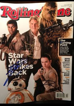 #starwars cast signed rolling stone harrison ford daisy ridley john boyega peter from $499.99