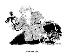 """OÖN-Karikatur von 27. Jänner 2015: """"Griechischer Wein"""" Mehr Karikaturen auf: http://www.nachrichten.at/nachrichten/karikatur/ (Bild: Mayerhofer)"""