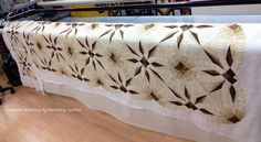 Bali Bed Runner ~ Quiltworx.com by Debbie, Quilted by RoseCity Quilter, Ardelle Kerr