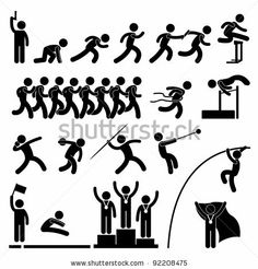 Sport Field and Track Game Athletic Event Winner Celebration Icon Symbol Sign Pictogram by Leremy, via Shutterstock