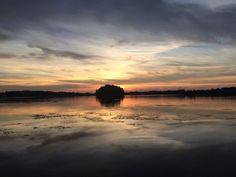 Przepiękny zachód słońca nad Zbiornikiem Dzierżno uchwycił Grzegorz Zagórski