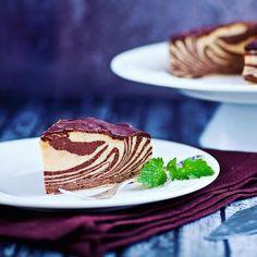 Sernik zebra na zimno poleca się do przygotowania :). Na http://dorota.in nowy #przepis.  #ciasto #sernik #cake #sweet #instafood #food #foodporn #recipe