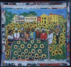The Sunflower Quilting Bee at Arles, by Faith Ringgold.