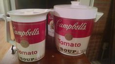 Found on EstateSales.NET: Early 70's Andy Warhol Campbell's ice bucket and iced tea pitcher