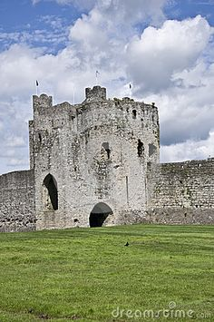 Trim Castle sits in the Boyne Valley in the Irish town if Trim, County Meath Southern Ireland.