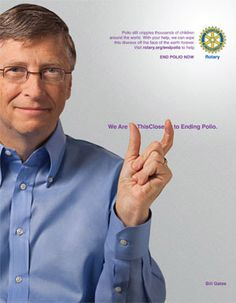 Bill Gates, cofounder of Microsoft and cochair of the Bill & Melinda Gates Foundation, shows how close we are to ending polio.     The Gates Foundation is working closely with Rotary International in the fight to eradicate polio.