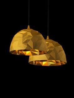 Designer lamps diesel Foscarini Golden geometric