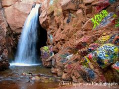 Rainbow Falls in Manitou Springs, Colorado by Jen Ulasiewicz Photography