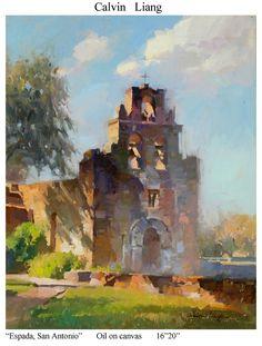 Espada, San Antonio by Calvin Liang Oil ~ 20 x 16