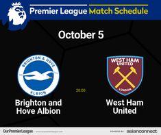 London Brighton, Brighton And Hove, Match Schedule, Premier League Matches, West Ham, The Unit, Day