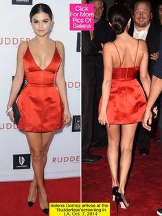Selena Gomez Red Dior Dress