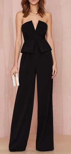 Peplum jumpsuits - 41 Simply Chic Fall Wedding Guest Outfits For Ladies Ideas – Peplum jumpsuits Mode Outfits, Fashion Outfits, Womens Fashion, Fashion Trends, Latest Fashion, Fashion Ideas, Party Fashion, Jumpsuit Elegante, Mode Inspiration