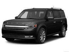 black ford flex with leather seats and 2nd row bucket seats :) ....and a sun roof