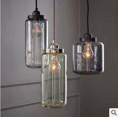 Nordic IKEA Restaurant Bar station retro creative personality glass chandelier bedroom lamp minimalist art cafe lights